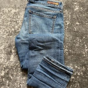 Express Size 2 Medium Wash Skinny Ankle Jeans